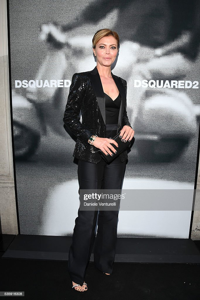 Vittoria Belvedere attends Dsquared2 in-store cocktail on May 30, 2016 in Rome, Italy.