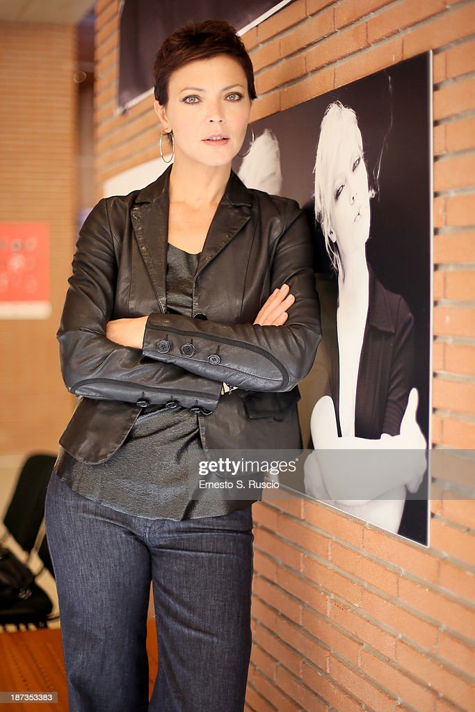 Vittoria Belvedere attends the Fabio Lovino Exhibition Opening during the 8th Rome Film Festival at the Auditorium Parco Della Musica on November 8, 2013 in Rome, Italy.