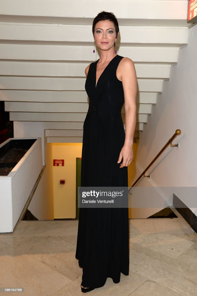 Vittoria Belvedere attends 'Vorrei... 2013' Charity Event To Support Fondazione FFC at Teatro Sistina on October 28, 2013 in Rome, Italy.