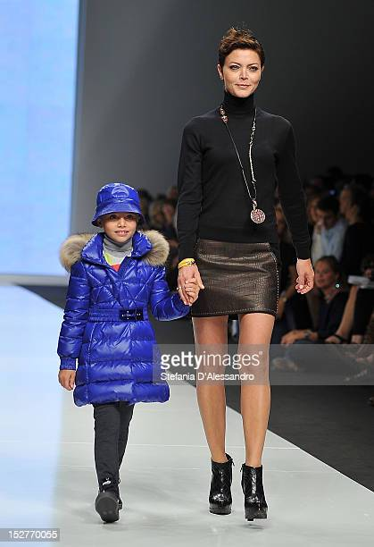 Vittoria Belvedere walks the runway of Laura Biagiotti Dolls Fashion Show as part of Fashion Kids For Children In Crisis Onlus held at Castello...