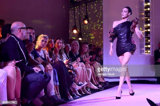 Vittoria Ceretti walks the runway during the Alexander Vauthier Haute Couture Fall/Winter 20172018 show as part of Haute Couture Paris Fashion Week...