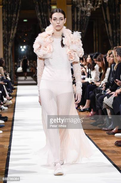 Vittoria Ceretti walks the runway during the Lanvin show as part of the Paris Fashion Week Womenswear Fall/Winter 2017/2018 >> on March 1 2017 in...