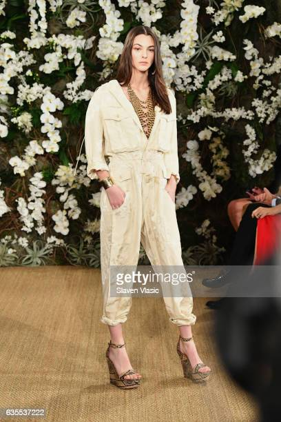 Vittoria Ceretti walks the runway for Ralph Lauren collection during New York Fashion Week on February 15 2017 in New York City