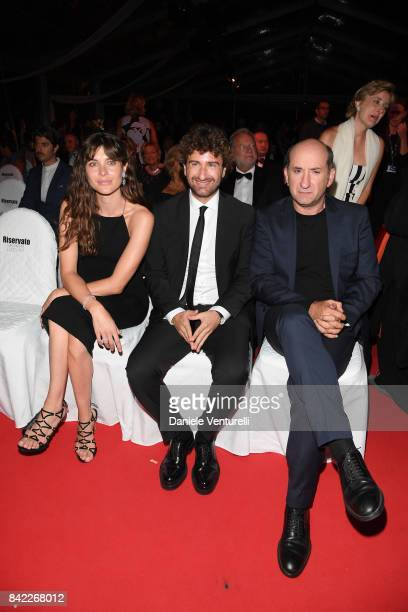 Vittoria Puccini Alessandro Siani and Antonio Albanese attend the Kineo Diamanti Awards during the 74th Venice Film Festival at Excelsior Hotel on...