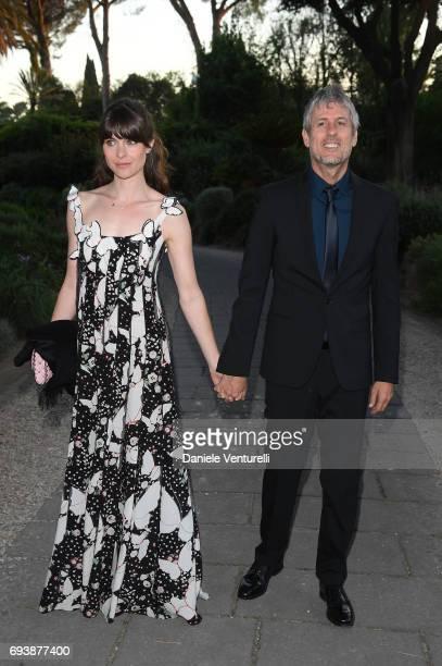 Vittoria Puccini and Fabrizio Lucci attend McKim Medal Gala at Villa Aurelia on June 7 2017 in Rome Italy
