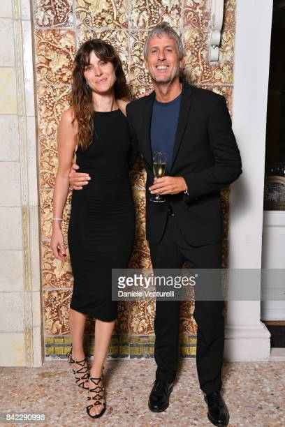 Vittoria Puccini and Fabrizio Lucci attend the Kineo Diamanti Awards dinner during the 74th Venice Film Festival at Grande Albergo Ausonia Hungaria...
