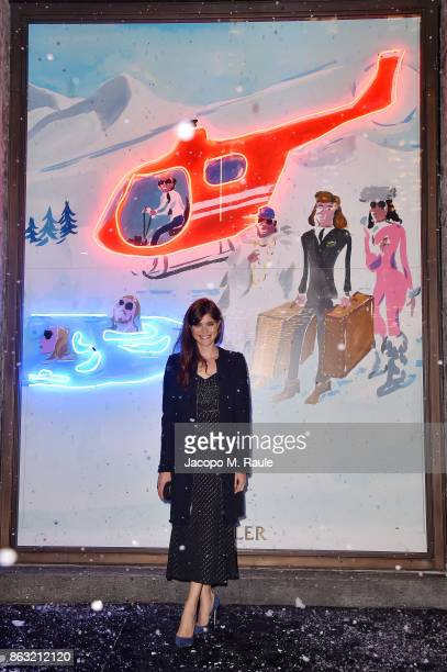 Vittoria Puccini attends the Moncler Flagship Store Opening Cocktail on October 19 2017 in Milan Italy