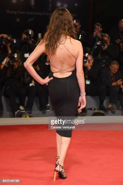 Vittoria Puccini walks the red carpet ahead of the 'The Leisure Seeker ' screening during the 74th Venice Film Festival at Sala Grande on September 3...