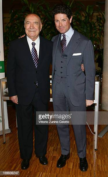 Vittoriano Faganelli and Matteo Marzotto attend the Sotheby's charity auction for FFC Onlus on January 23 2013 in Milan Italy