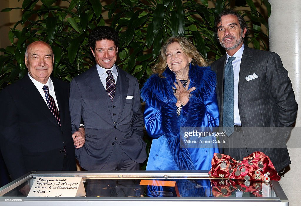 Vittoriano Faganelli, Matteo Marzotto. Marta Marzotto, Umberto Verga attend the Sotheby's charity auction for FFC Onlus on January 23, 2013 in Milan, Italy.