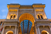 Vittorio Emanuele II Gallery in Milan Italy - architecture background