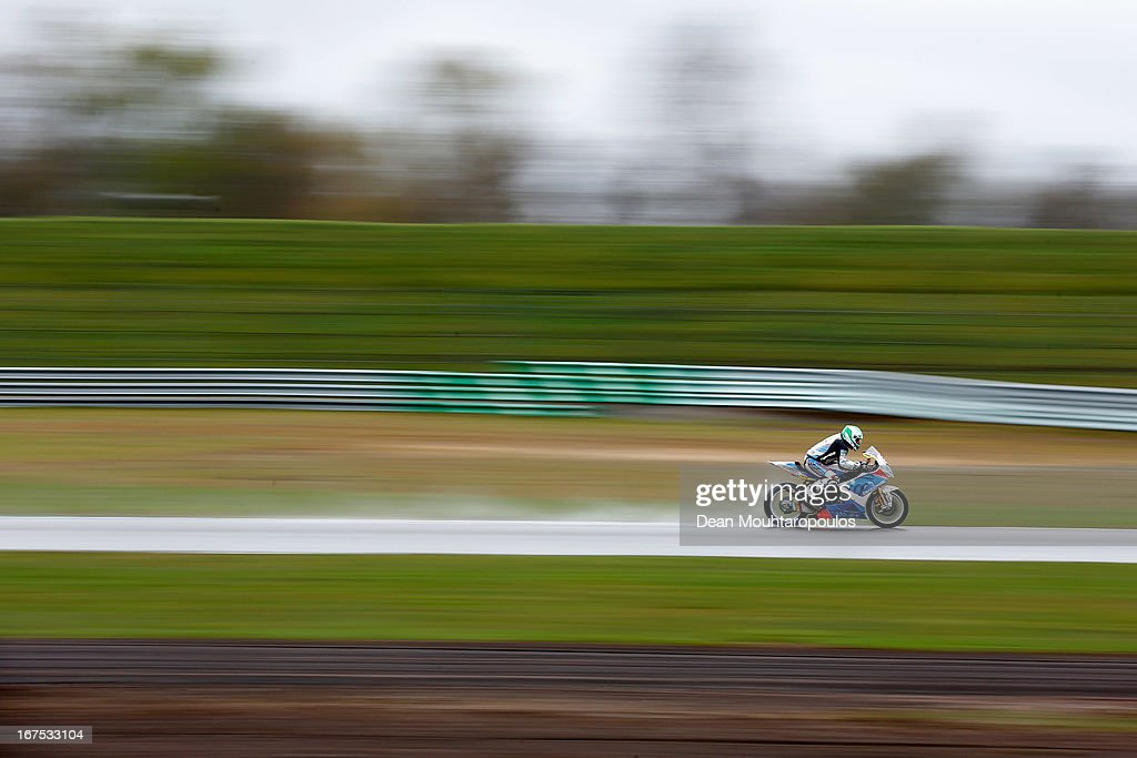 Vittorio Iannuzzo of Italy on the BMW S1000 RR for Grillini Dentalmatic SBK competes during the World Superbikes Practice Session at TT Circuit Assen on April 26, 2013 in Assen, Netherlands.