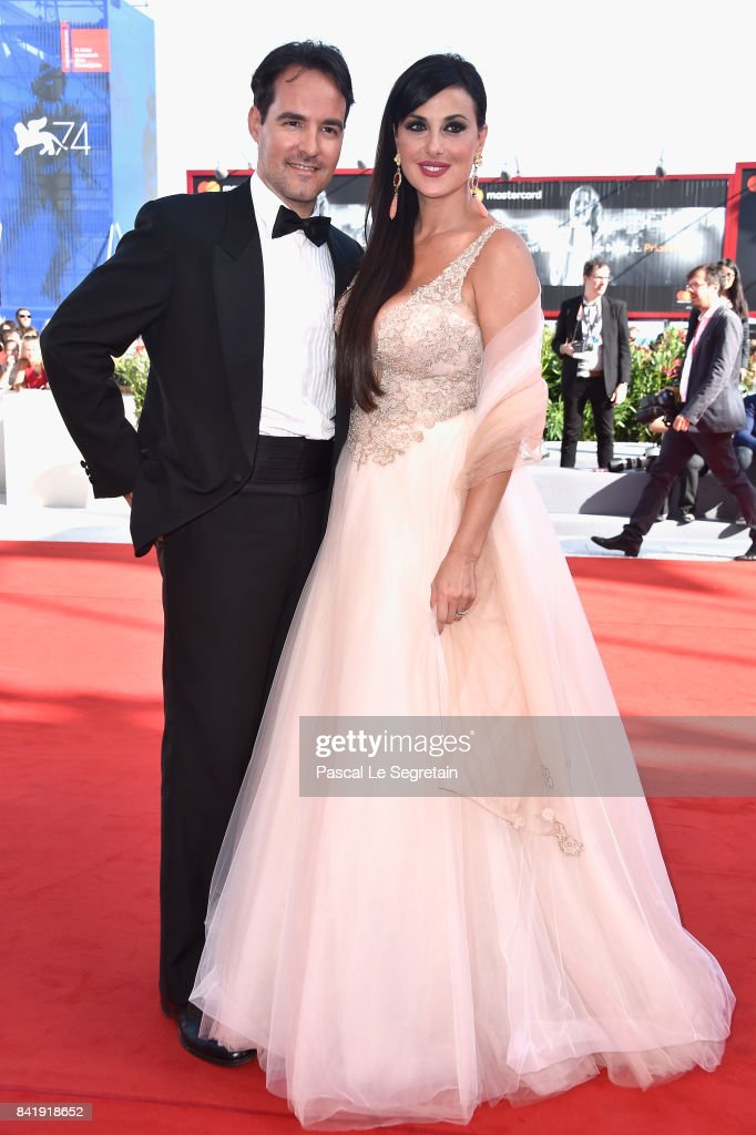 Vittorio Palazzi and Isabelle Adriani walk the red carpet ahead of the 'Foxtrot' screening during the 74th Venice Film Festival at Sala Grande on September 2, 2017 in Venice, Italy.