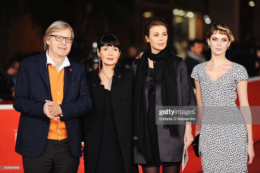 <a gi-track='captionPersonalityLinkClicked' href=/galleries/search?phrase=Vittorio+Sgarbi&family=editorial&specificpeople=2867817 ng-click='$event.stopPropagation()'>Vittorio Sgarbi</a>, Elisabetta Sgarbi, <a gi-track='captionPersonalityLinkClicked' href=/galleries/search?phrase=Sabrina+Colle&family=editorial&specificpeople=4410237 ng-click='$event.stopPropagation()'>Sabrina Colle</a> and Elena Radonicich attend 'Racconti D'Amore' Premiere during The 8th Rome Film Festival on November 12, 2013 in Rome, Italy.