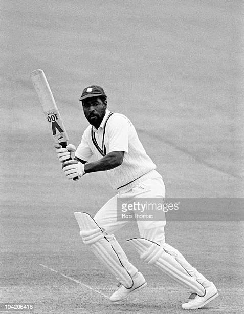 Viv Richards batting for the West Indies against England during the Third Texaco Trophy cricket match held at Lord's Cricket Ground London on 23rd...