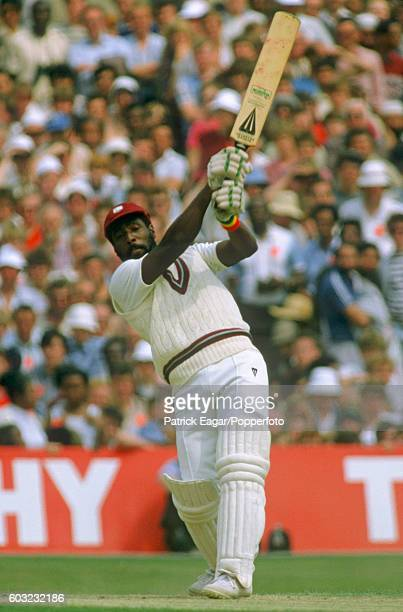 Viv Richards of West Indies batting during his 189 not out in the 1st Texaco Trophy One Day International between England and West Indies at Old...