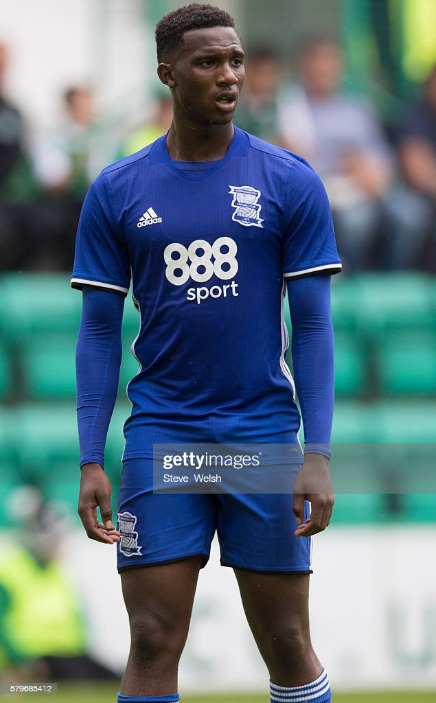 Viv Solomon-Otabor in action for Birmingham City during the Pre-Season Friendly between Hibernian and Birmingham City at Easter Road on July 24, 2016 in Edinburgh, Scotland.