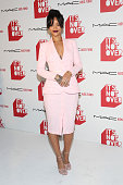 Viva Glam Spokesperson Rihanna attends MAC Cosmetics and MAC AIDS Fund world premiere of 'It's Not Over' film directed by Andrew Jenks on November 18...