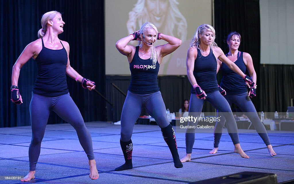 Viveca Jensen attends the Sweat USA America's All-Star Fitness Festival at the Miami Beach Convention Center on October 13, 2013 in Miami Beach, Florida.