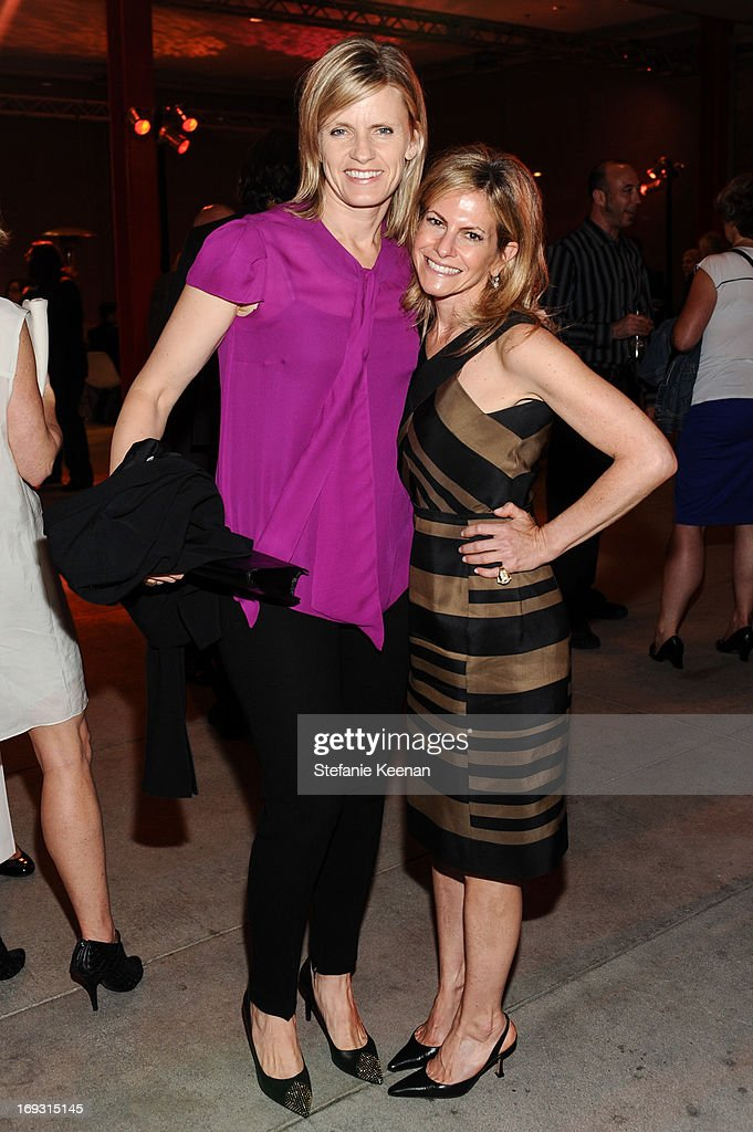 Viveca Paulin-Ferrell and Allison Berg attend LACMA Celebrates Opening Of James Turrell: A Retrospective at LACMA on May 22, 2013 in Los Angeles, California.