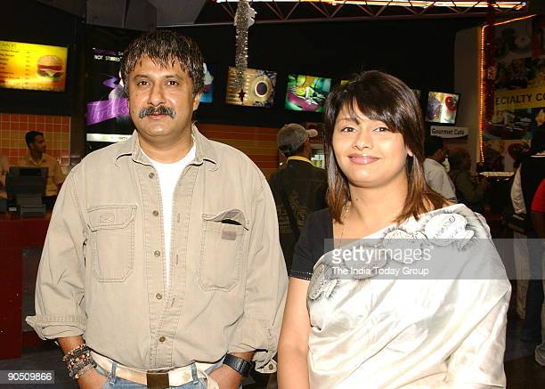 Vivek Agnihotri with Pallavi Joshi at Fame Adlab to watch Aparna Sen's 15Park Avenue in Mumbai Maharashtra India