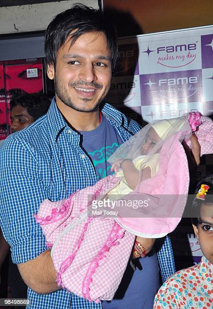 Vivek Oberoi meets his fans at a promotional event for his film Prince in Mumbai on April 14 2010