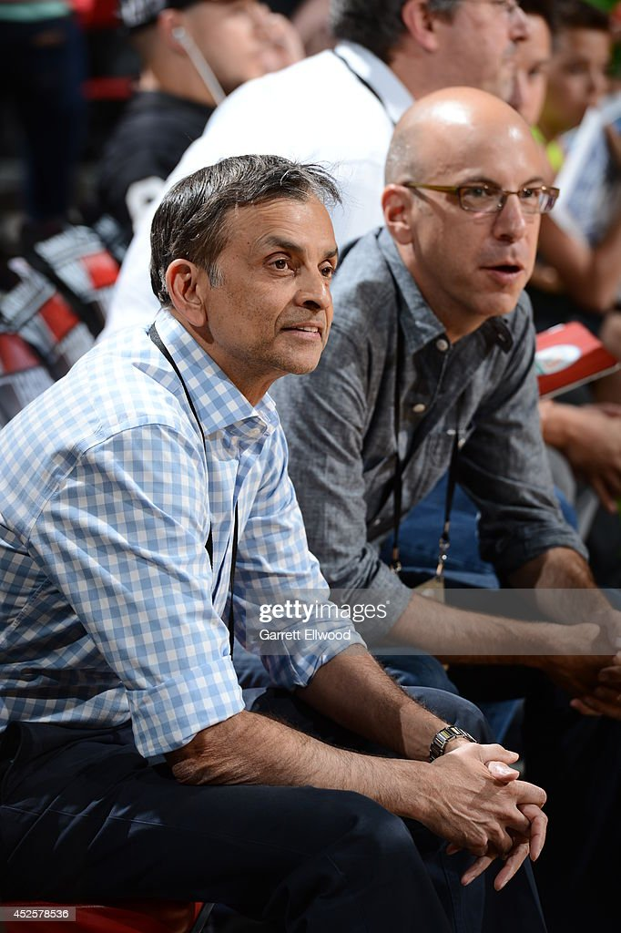 Vivek Ranadive owner of the Sacramento Kings looks on during the Samsung NBA Summer League 2014 on July 21, 2014 at the Thomas & Mack Center in Las Vegas, Nevada.