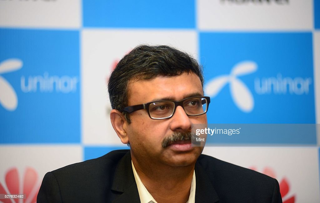 Vivek Sood - CEO of Uninor at Uninor conference on August 12, 2015 in New Delhi, India.