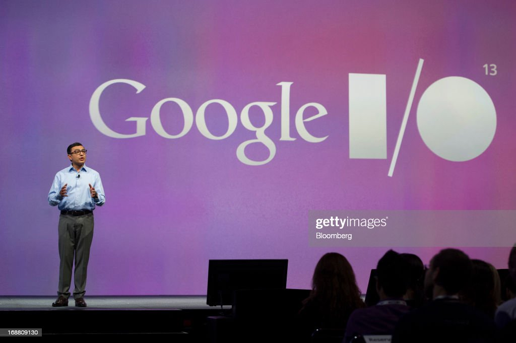 Vivek 'Vic' Gundotra, senior vice president of engineering at Google Inc., speaks during the Google I/O Annual Developers Conference in San Francisco, California, U.S., on Wednesday, May 15, 2013. Google Inc. introduced a subscription music-streaming service, one of several product updates to be unveiled at a developer meeting this week as the search provider seeks to attract more users and advertisers. Photographer: David Paul Morris/Bloomberg via Getty Images