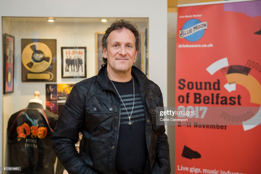 Vivian Campbell unveils his exhibition showcase at the Oh Yeah Music Centre before the NI Music Awards at Mandela Hall on November 11, 2017 in Belfast, Northern Ireland.