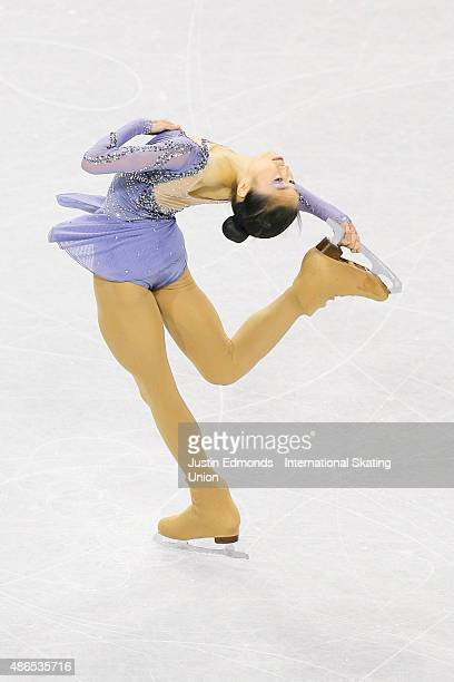 Vivian Le of United States skates during the junior ladies short program at World Arena on September 4 2015 in Colorado Springs Colorado