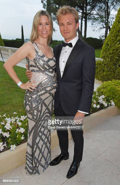 Vivian Sibold and Nico Rosberg arrive at the amfAR Gala Cannes 2017 at Hotel du CapEdenRoc on May 25 2017 in Cap d'Antibes France