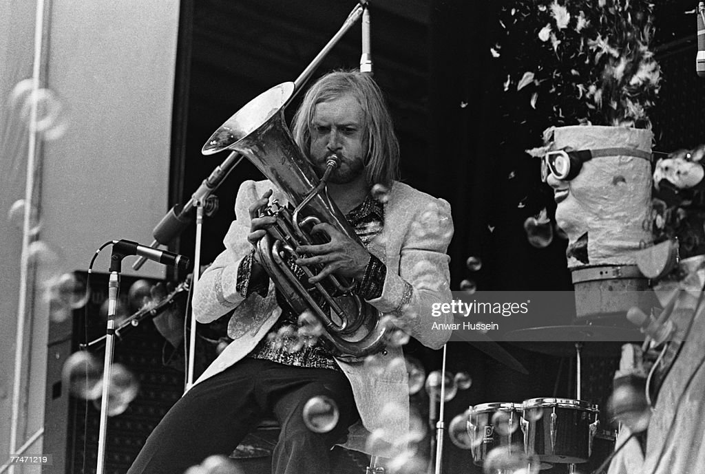 Vivian Stanshall and the The Bonzo Dog DooDah Band perform at the Isle of Wight Festival in Wootton 30th/31st August 1969
