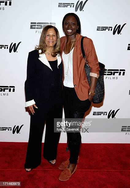 C Vivian Stringer and Essence Carson attend 'Venus Vs' and 'Coach' New York Special Screenings at Paley Center For Media on June 24 2013 in New York...