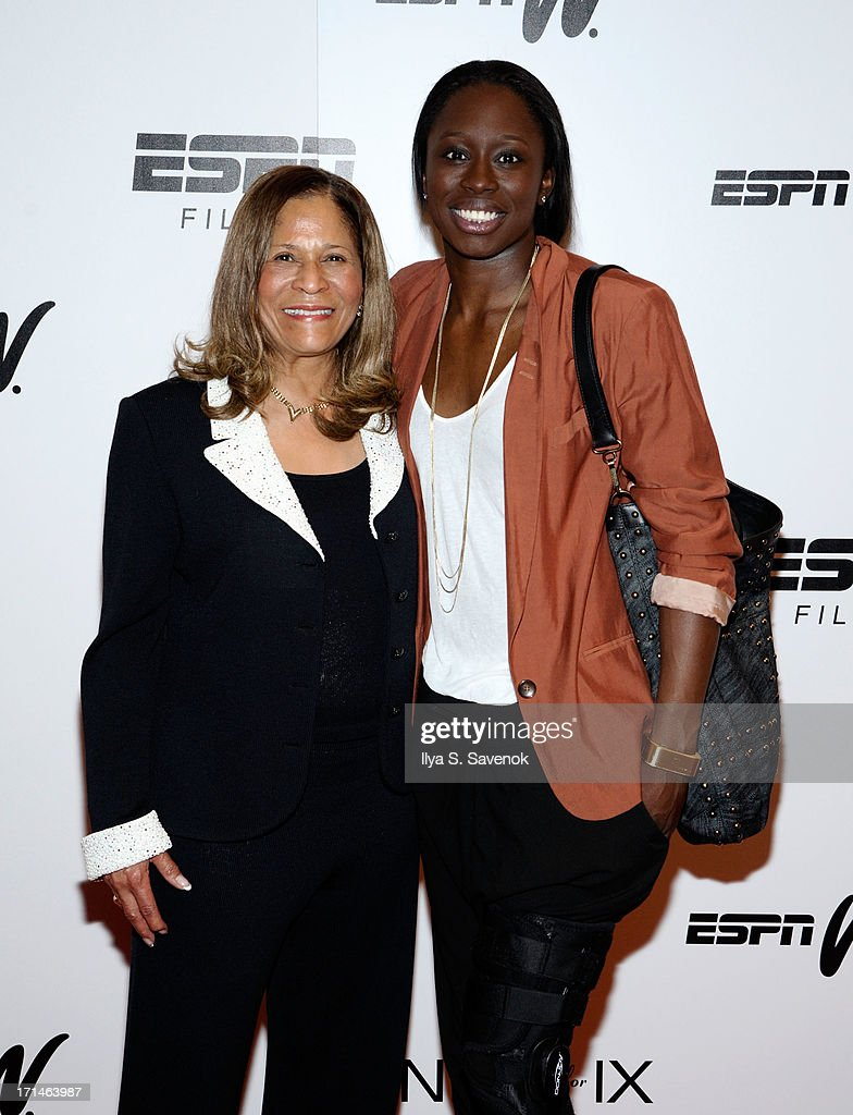 C. Vivian Stringer (L) and Essence Carson attend 'Venus Vs.' and 'Coach' New York Special Screenings at Paley Center For Media on June 24, 2013 in New York City.