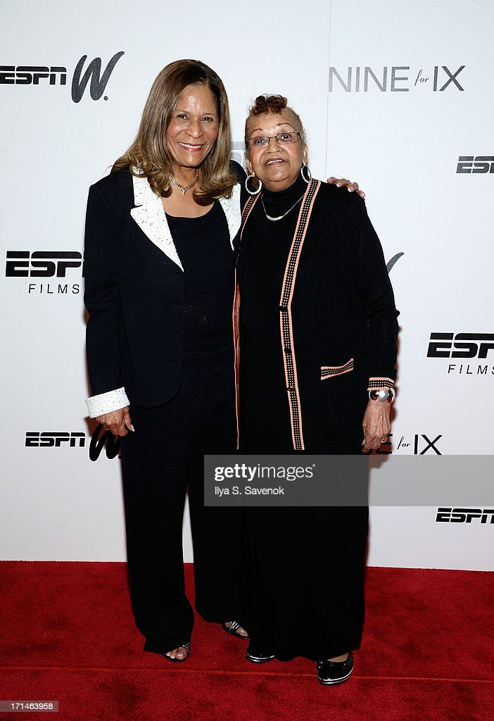 C. Vivian Stringer (L) and mother Thelma Stoner attend 'Venus Vs.' and 'Coach' New York Special Screenings at Paley Center For Media on June 24, 2013 in New York City.