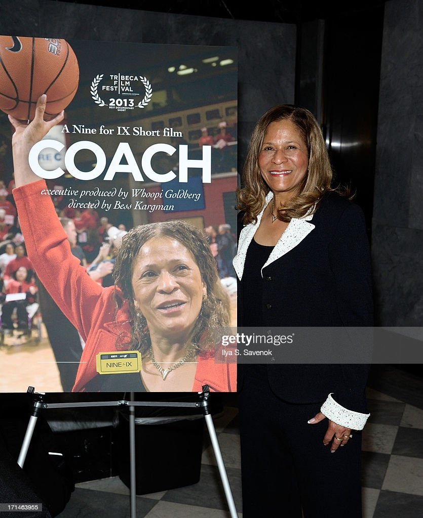 C. Vivian Stringer attends 'Venus Vs.' and 'Coach' New York Special Screenings at Paley Center For Media on June 24, 2013 in New York City.