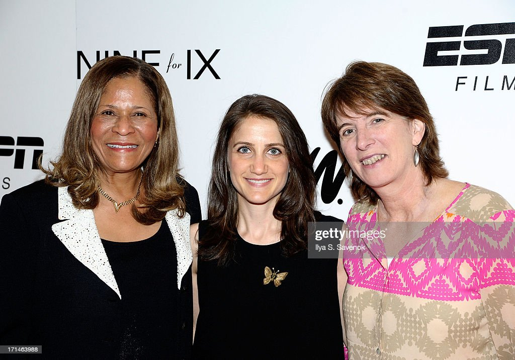 C. Vivian Stringer, Bess Kargman, and Carol Stiff attend 'Venus Vs.' and 'Coach' New York Special Screenings at Paley Center For Media on June 24, 2013 in New York City.