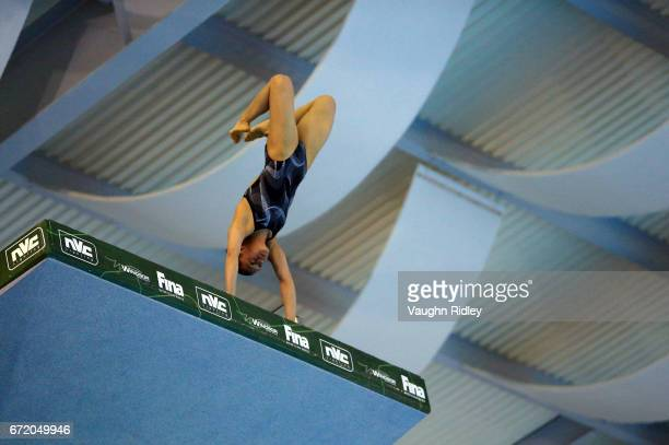 Viviana Del Angel Peniche of Mexico competes in the Women's 10m Semifinal A during the 2017 FINA Diving World Series at the Windsor International...