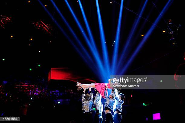 Viviana Grisafi performs during the live finals of the television show 'Deutschland sucht den Superstar' on May 16 2015 in Bremen Germany