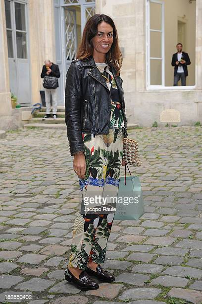 Viviana Volpicella arrives at Delfina Delettrez Presents Jewelry Collection during Paris Fashion Week Womenswear SS14 Day 7 on September 30 2013 in...
