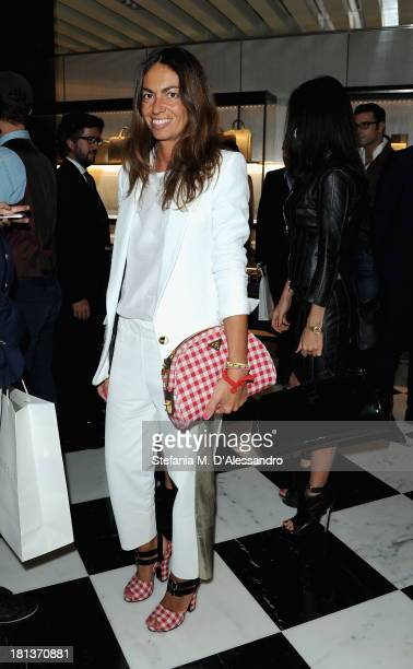 Viviana Volpicella attends the Prada cocktail party as a part of Milan Fashion Week Womenswear Spring/Summer 2014 on September 20 2013 in Milan Italy