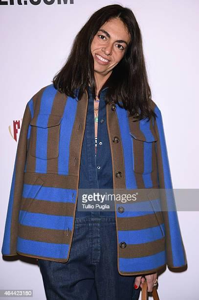 Viviana Volpicella attends the Vogue Talent's Cornercom on February 25 2015 in Milan Italy