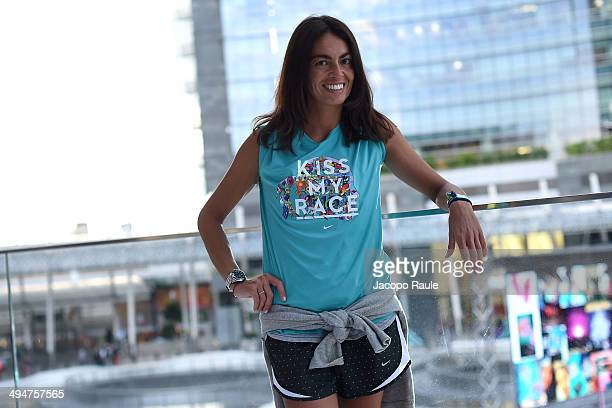 Viviana Volpicella attends We Own The Night Milan Women's 10km Run on May 30 2014 in Milan Italy