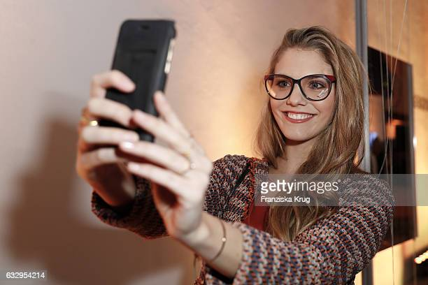 Viviane Geppert attends the Rodenstock Exhibition Opening Event at Museum of Urban and Contemporary Art in Munich on January 28 2017 in Munich Germany