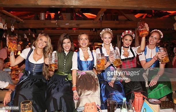 Viviane Geppert Marie Nasemann Larissa Laudenberger founder 'Beauty Beee' Darya Strelnikova Sophie Hermann model and stepdaughter of Uschi Glas and...