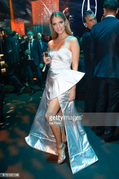 Viviane Geppert poses at the Bambi Awards 2017 party at Atrium Tower on November 16 2017 in Berlin Germany