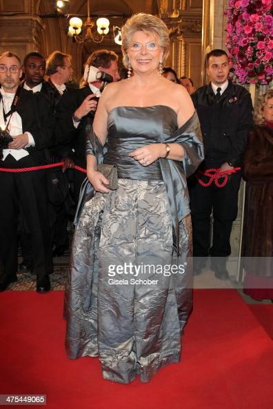 Viviane Reding attends the traditional Vienna Opera Ball at Vienna State Opera on February 27 2014 in Vienna Austria