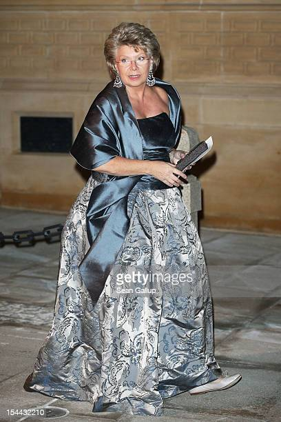 Viviane Reding the VicePresident of the European Commission attends the Gala dinner for the wedding of Prince Guillaume Of Luxembourg and Stephanie...