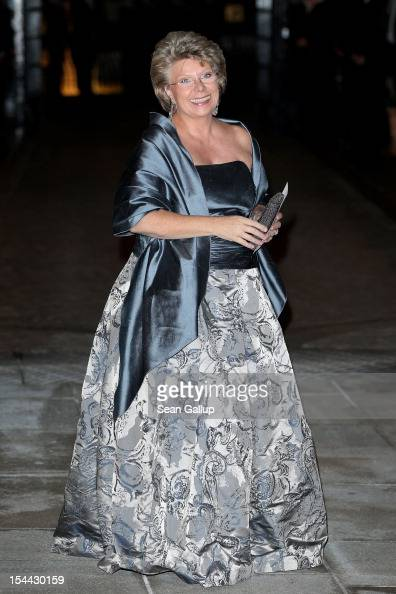 Viviane Reding the VicePresident of theEuropean Commission attends the Gala dinner for the wedding of Prince Guillaume Of Luxembourg and Stephanie de...